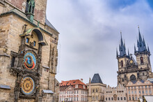 The Astronomical Clock - Prazsky Orloj - On The Old Town City Hall In Old Town Square In Prague, Czechia