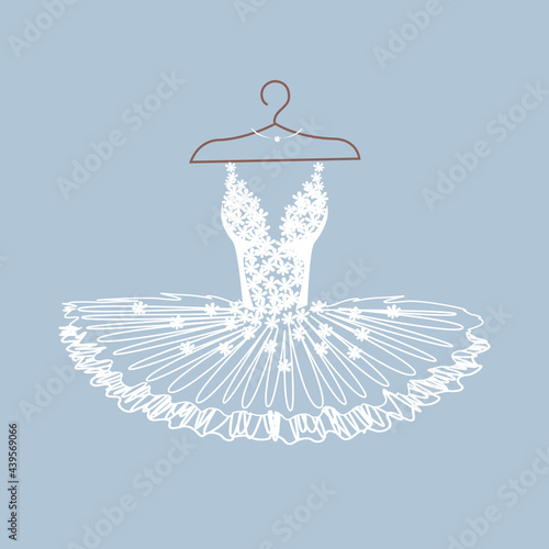 Carta da parati Beautiful ballet tutu on a hanger