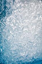 Ice Cubes In Ice Bath Overhead