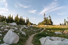 A Rocky Path Through The Mountains