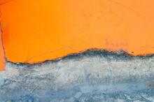 Brick Wall Texture And Half-divided Orange Wall