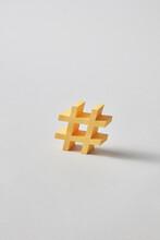 Yellow Hashtag Sign