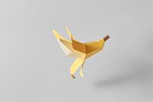Papercraft Yellow Banana Falling