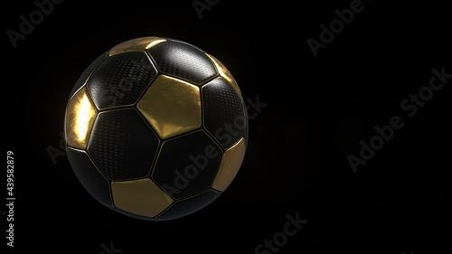 Obraz na plátně Dark Golden Football