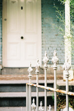 Vintage Wrought Iron Gate At Entrance