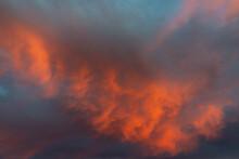 Bright Pinkish Orange Clouds