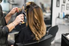 Curling A Client's Hair