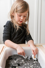 Little Kid Outer Space Sensory Learning