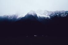 Misty Sky Over Mountainous Peaks