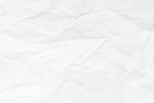 Grunge Wrinkled White Color Paper Textured Background