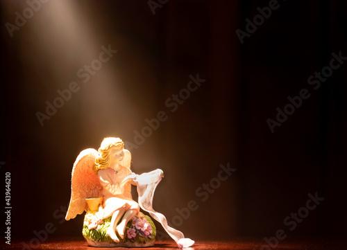 Tela Angel Figurine in Spotlight
