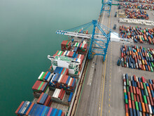 Shipping Containers In The Port