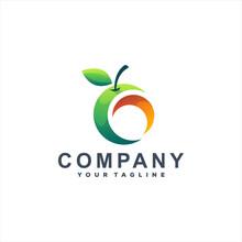 Fruit Mango Gradient Logo Design