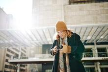Woman Taking Photos In Dallas