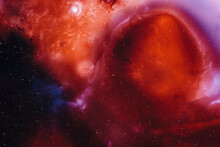 Abstract Space Nebula Background With Stars