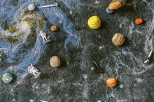 Solar System Galaxy Rug With Space Toys