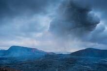 Grindavík, Iceland Active Volcanic Crater, Mt Fagradalsfjall, Southwest Reykjanes Peninsula
