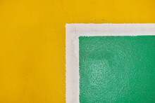 Yellow Green: Square Pattern Background