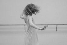 Black And White Photo Of Female Dancer