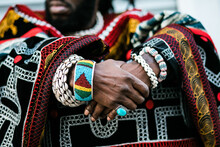 Decorated African Man's Hands