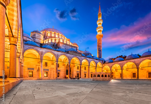 Fotografie, Obraz Istanbul, Turkey - Suleymaniye Mosque in Sultanahmet