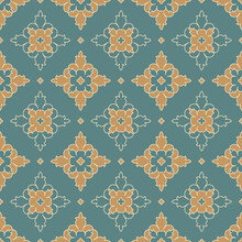 Vintage Seamless Pattern. Abstract Vector Ornament