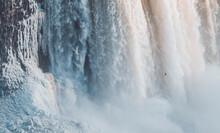 Niagara Waterfall At Ontario, Canada In Winter