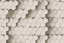 Abstract Marble Hexagons On Grey Background