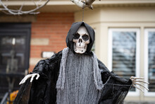 Grim Reaper Ghost Scary Halloween Decorations In Front Yard For Trick Or Treat