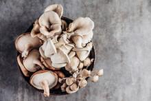A Bowl Of Assorted Organic Mushrooms
