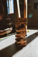 A Wooden Blocks Floor Game