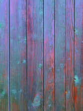 Vibrant, Blue Wooden Fence / Wall