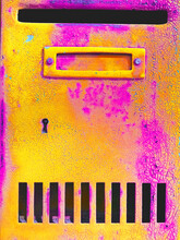 Vibrant Post Mail Box Background / Texture