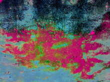 Old, Rusty, Ancient, Colorful, Vibrant Concrete Wall Background