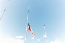 American Flag Atop The Flag Pole.