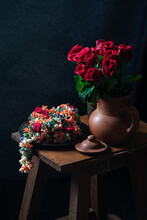 Kadamba Flower - A South Indian Special Garland Made Tying Different Varieties Of Flowers And Fragrant Flowers