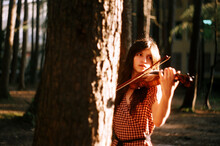 A Beautiful Violinist Musician