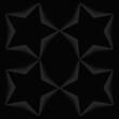 Wektorowa ilustracja - sylwetki gwiazd otoczone srebrnymi kolcami na ciemnym tle. Szablon na plakat, tapeta, dekoracja, obraz, pocztówka lub tło na social media story.