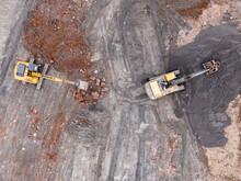 Top View Of Excavator