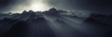 Dark Fantasy Mountain Landscape
