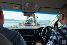 Passengers Waiting To Board Ferry For Bruny Island, Tasmania