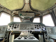 Interior Of A Vintage Space Shuttle Cockpit