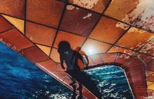 Swimming Pool, Boy's Shadow.
