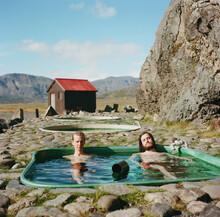 Men In Hot Tub