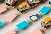 Colorful Books - 3D Render