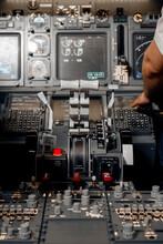 Control Levers Near Crop Aviator