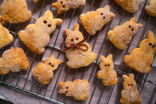 Traditional Easter Bunny Quark Pastries