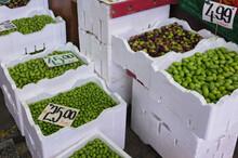 Fresh Olives For Sale At Market
