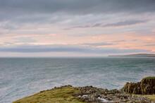 Oceanside Cliffs At Sunset