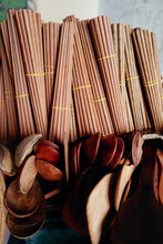 Chinese Wood Chopsticks And Spoon
